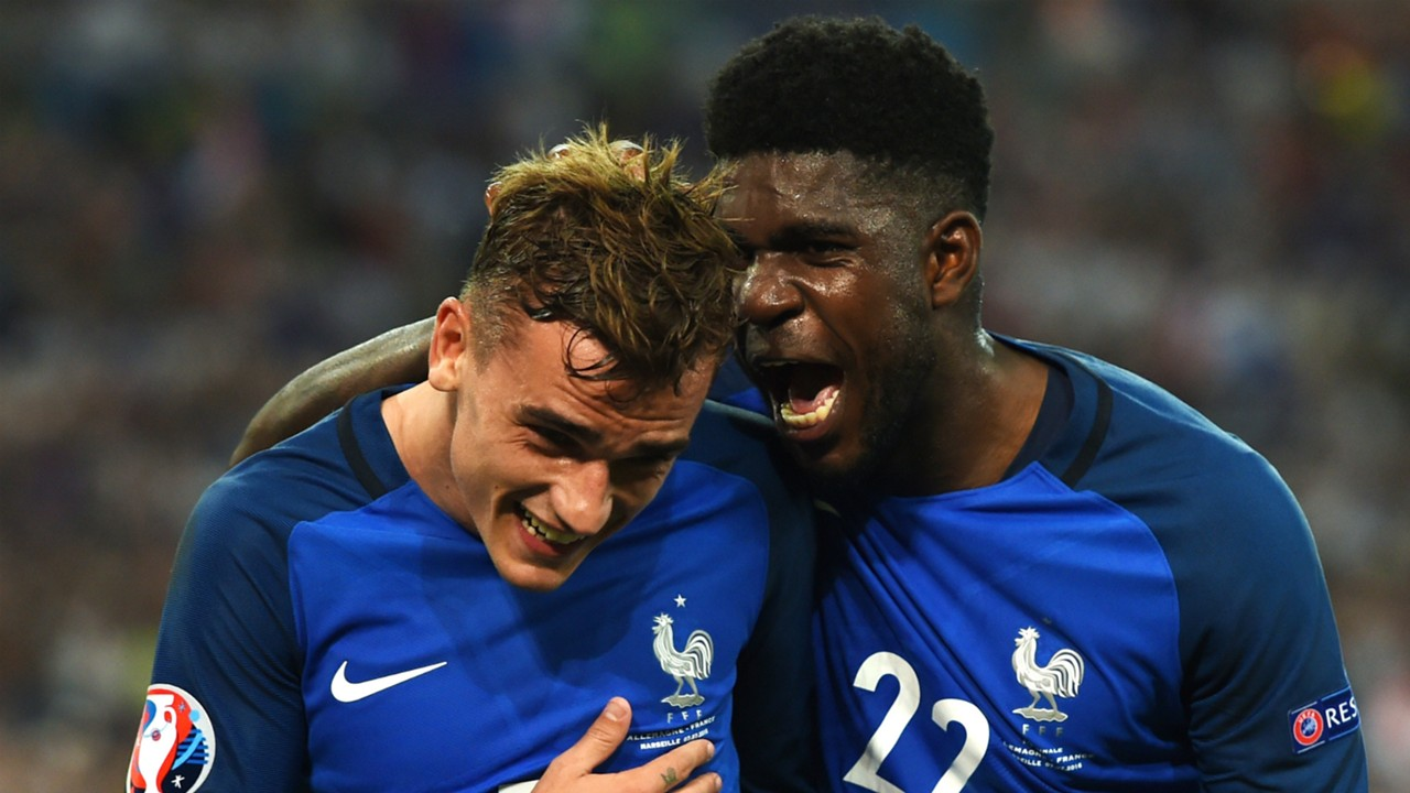 Image result for Griezmann and Umtiti