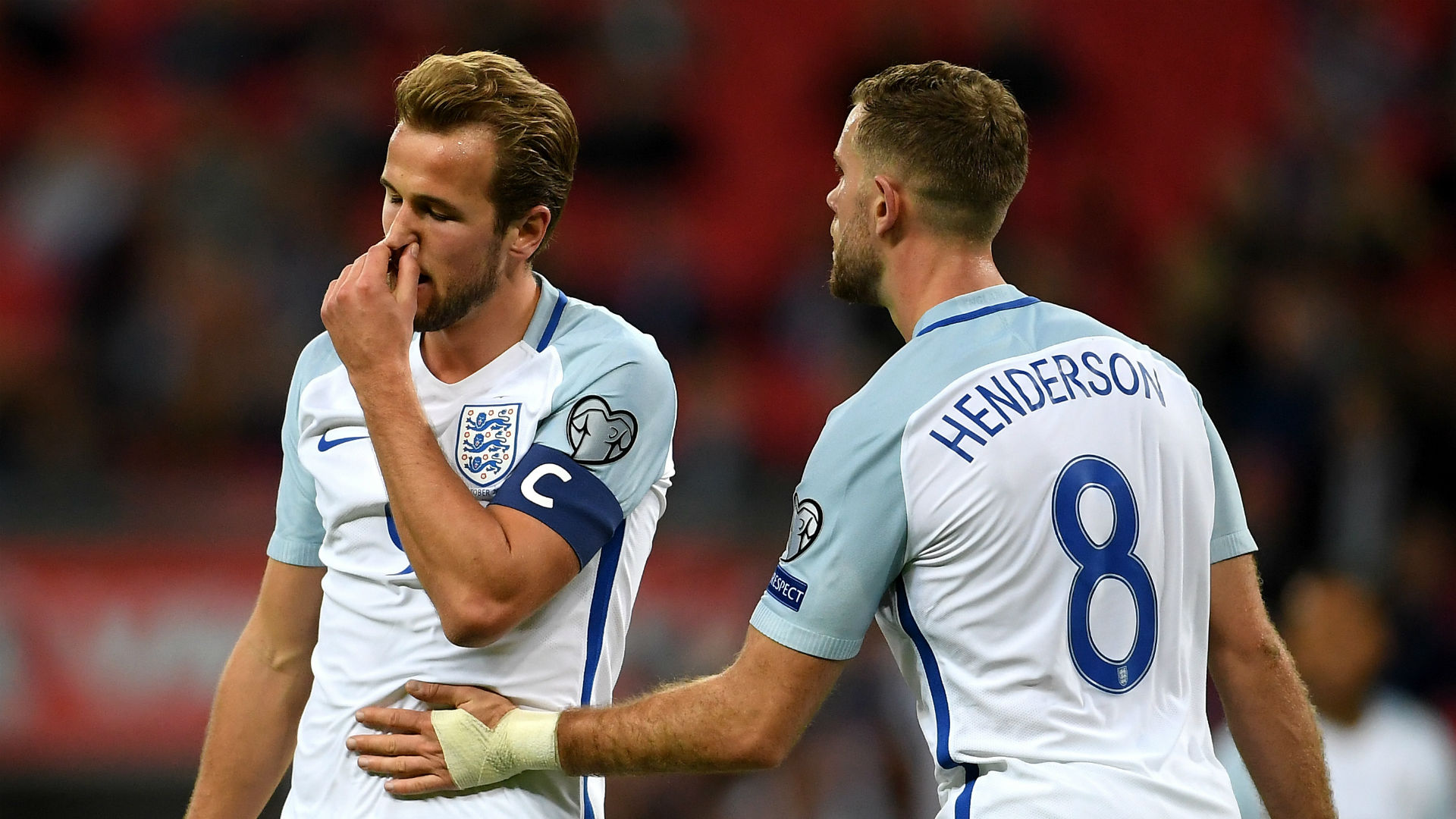 Harry Kane Jordan Henderson England 05102017