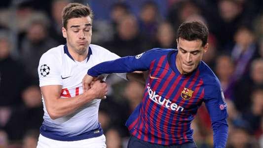 Philippe Coutinho Harry Winks Barcelona Tottenham UCL 11122018