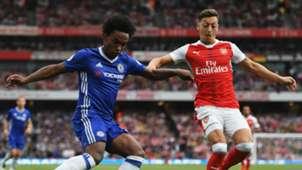 Willian Mesut Ozil Chelsea Arsenal