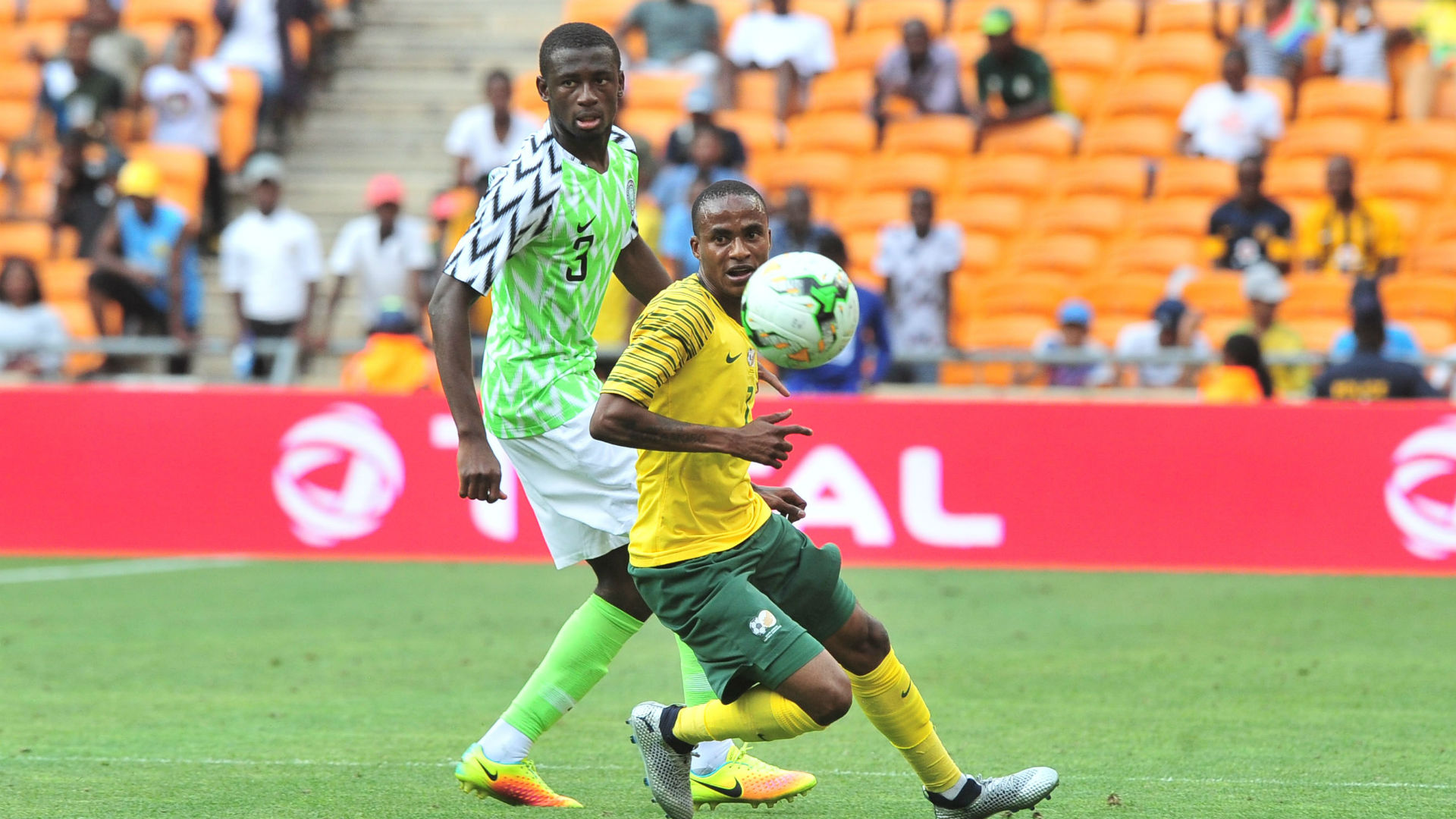 Super Eagles stars train at FNB stadium ahead of South Africa clash