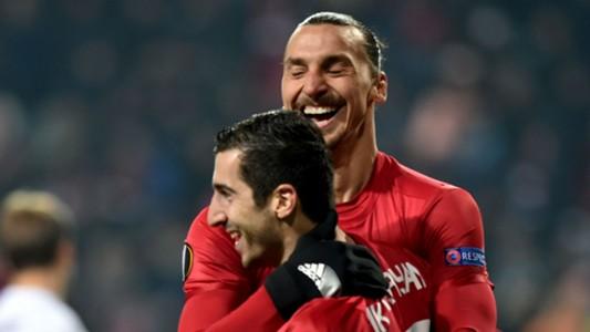 Zlatan Ibrahimovic Henrikh Mkhitaryan Manchester United 03122016