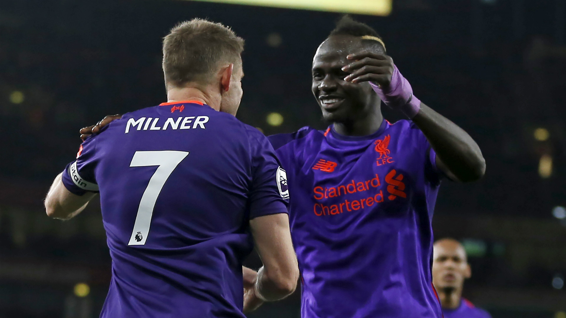 James Milner Sadio Mane Liverpool 2018-19