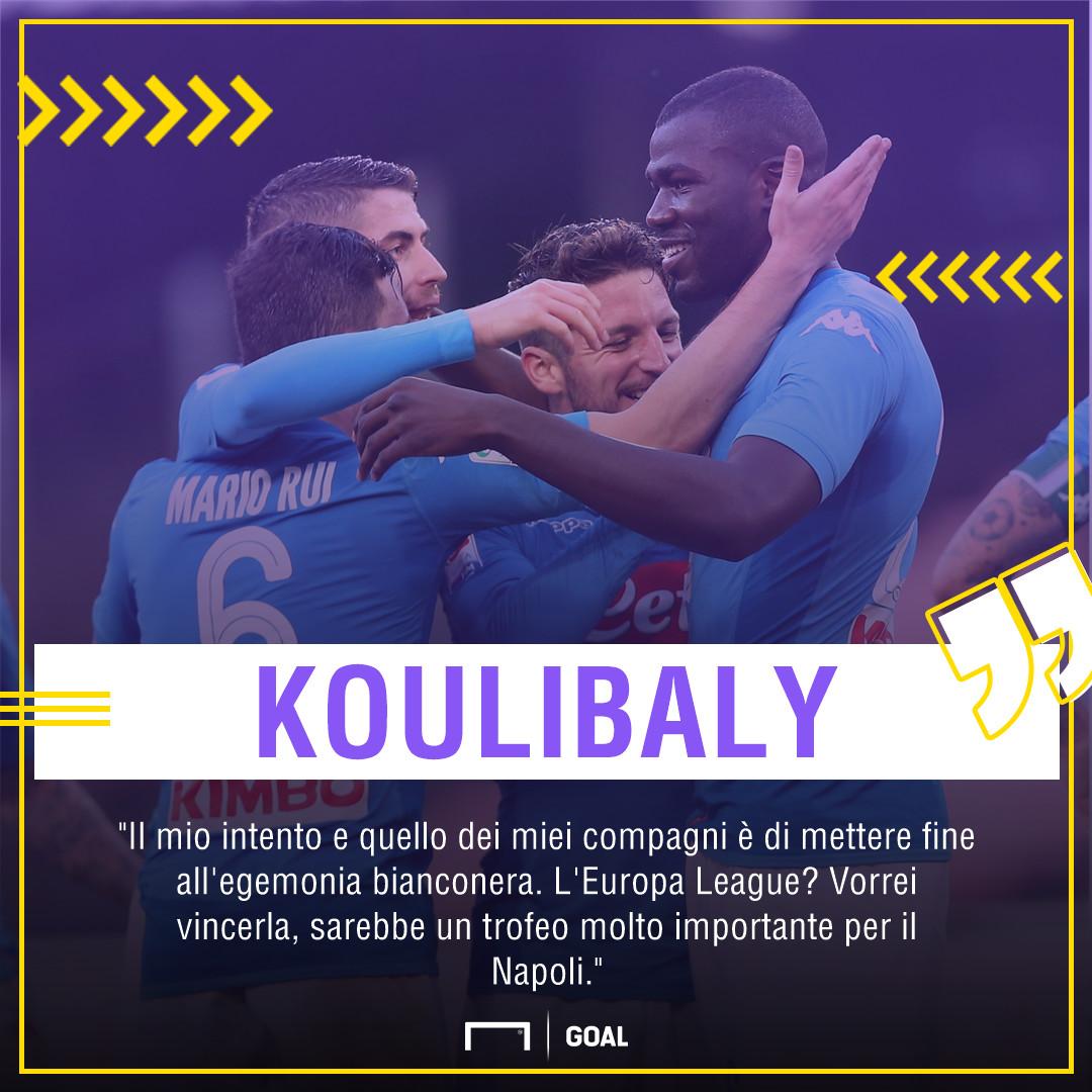 Koulibaly tra Atalanta e scudetto:
