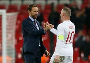 Wayne Rooney memungkas perjalanannya bersama tim nasional Inggris dengan penampilan ke-120 dalam uji coba kontra Amerika Serikat di Wembley, Kamis (15/11) malam. Rooney menjadi kolektor <i>cap</i> terbanyak kedua untuk The Three Lions di bawah kiper le...