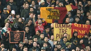 Roma fans Liverpool Anfield
