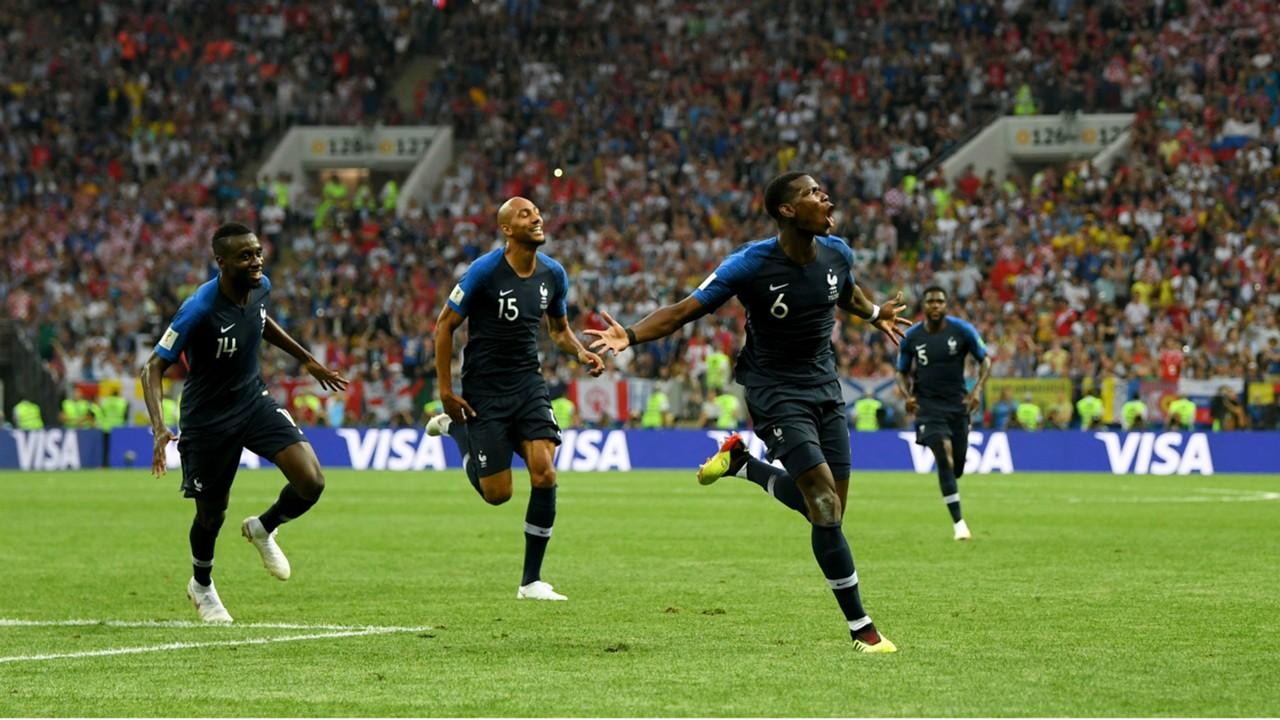 Image result for ฝรั่งเศสรัวโครแอต 4-2 คว้าแชมป์ฟุตบอลโลก 2018