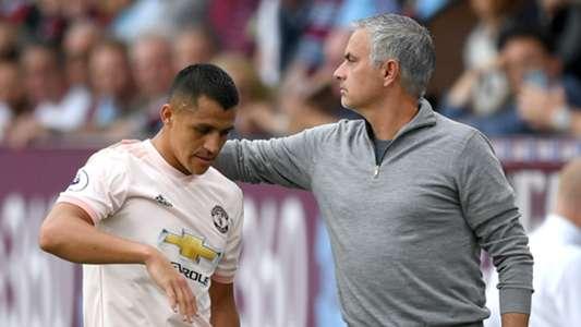 Alexis Sanchez Jose Mourinho Manchester United 2018-19