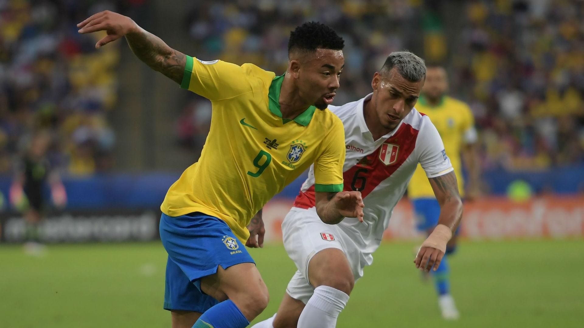 Gabriel Jesus Miguel Trauco Brazil Peru Copa America 2019