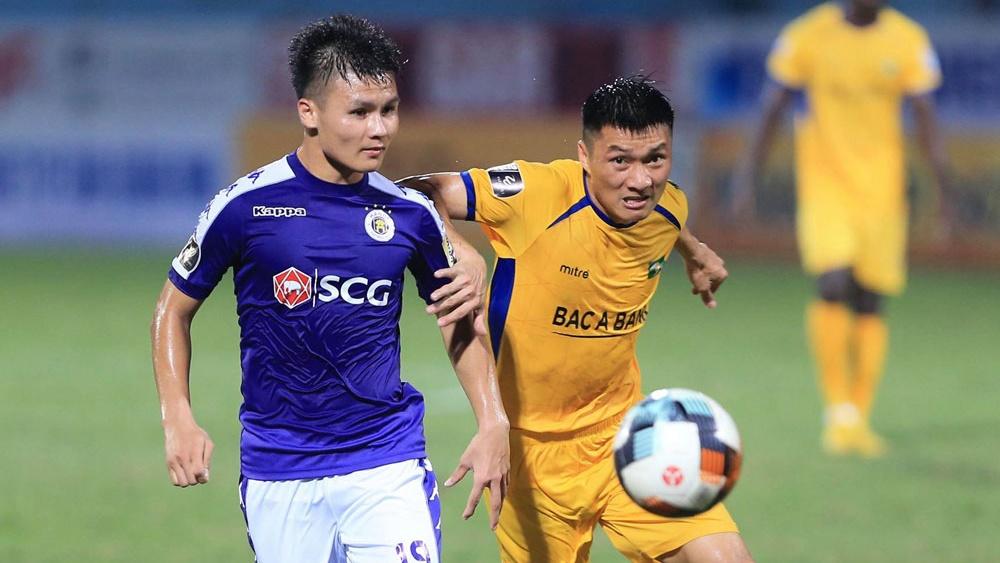 Nguyen Quang Hai vs Tran Dinh Dong Ha Noi FC SLNA V.League 2019