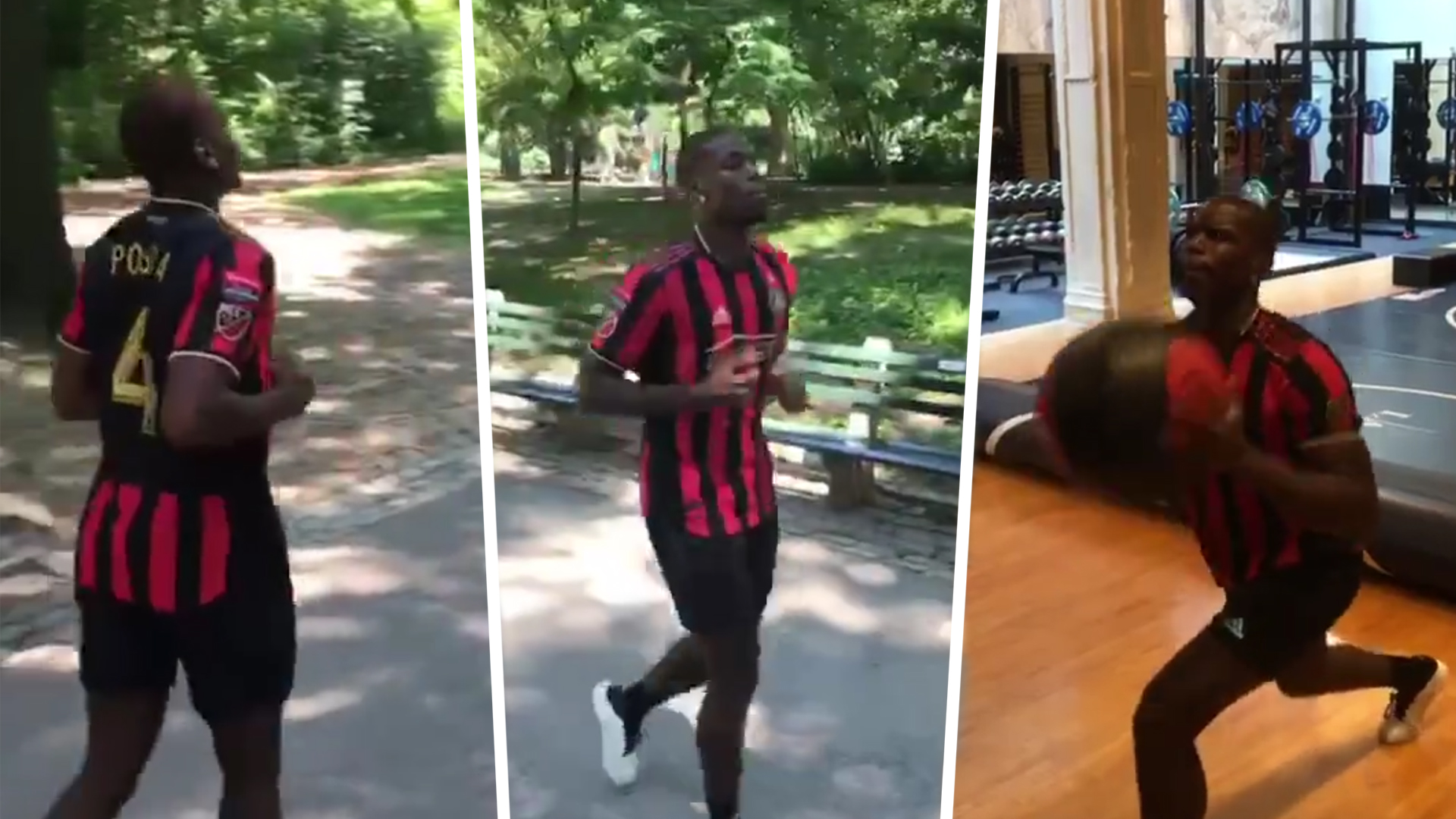 buy popular a061f 79fed Manchester United transfer news: Paul Pogba trains in New ...