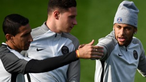 Di Maria Draxler e Neymar PSG treino 26 09 17