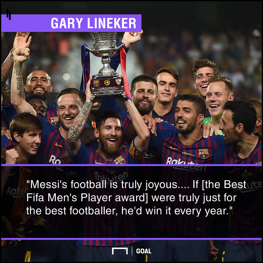 Gary Lineker Lionel Messi PS