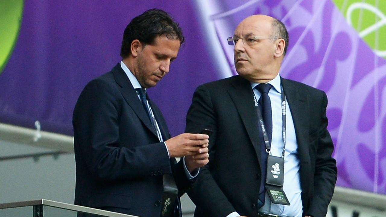 Fabio Paratici e Beppe Marotta, il duo che ha rivoluzionato la Juventus. Foto: Getty.