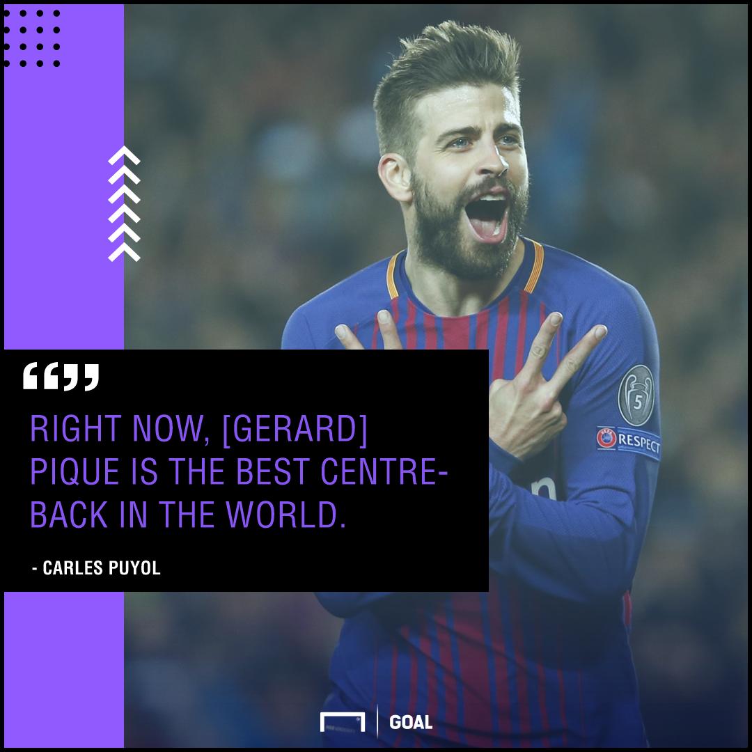 Gerard Pique world's best Carles Puyol