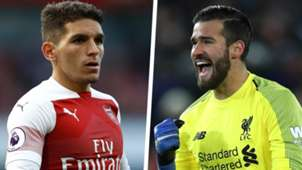 Lucas Torreira and Alisson Becker