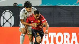 Alexis Sanchez Jesus Vallejo Manchester United Real Madrid ICC 2018