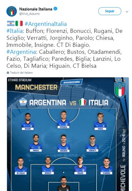 Bielsa Argentina Italia Twitter