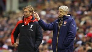 Jürgen Klopp Arsene Wenger Liverpool Arsenal 12012016