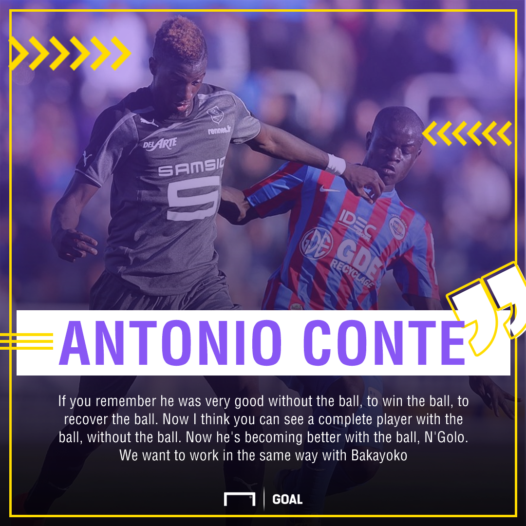 Conte on Bakayoko and Kante GFX