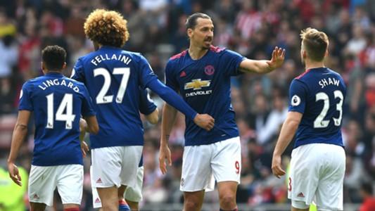 Zlatan Ibrahimovic Manchester United celebrate