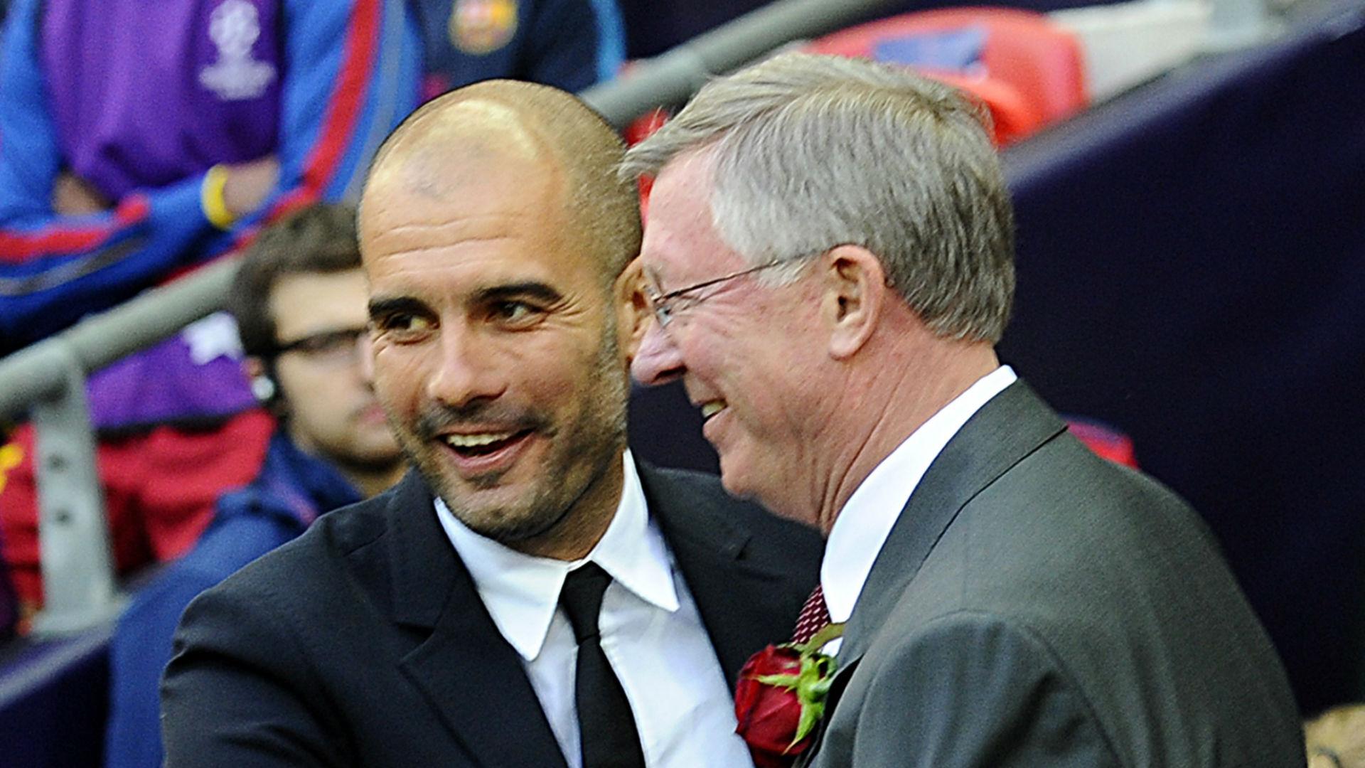 Pep Guardiola Sir Alex Ferguson