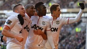 Tom Cleverley Ashley Young Danny Welbeck Adnan Januzaj Manchester United Premier League