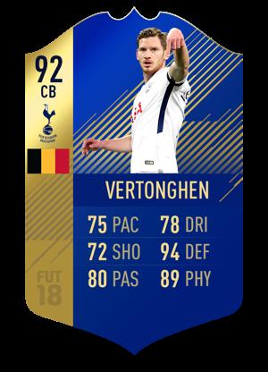 FIFA 18 Team of the Season Vertonghen
