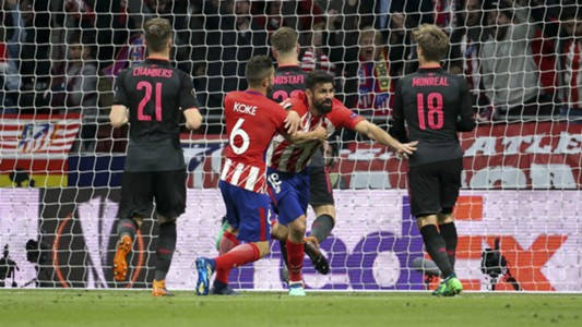 Diego Costa Koke Atletico Madrid Arsenal Europa League