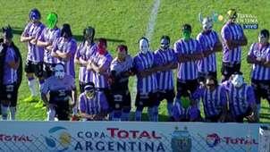 Captura TV Sacachispas Arsenal Copa Argentina Superhéroes 230517
