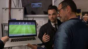 EMBED ONLY Maurizio Sarri Chelsea laptop