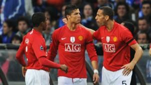 Patrice Evra Cristiano Ronaldo Rio Ferdinand Manchester United