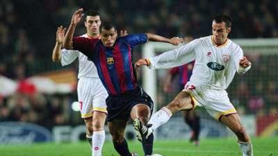 Hakan Unsal Rivaldo Bulent Akin Galatasaray Barcelona 2001