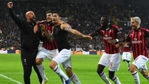 Milan celebrates Alessio Romagnoli vs. Udinese