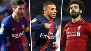 Lionel Messi Kylian Mbappe Mohamed Salah