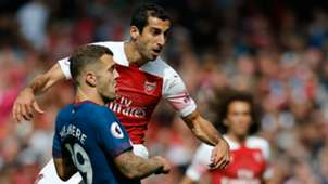 Henrikh Mkhitaray Jack Wilshere Arsenal West Ham 2018-19