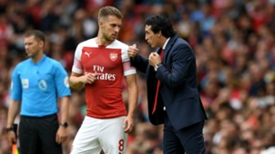 Unai Emery Aaron Ramsey Arsenal Manchester City Premier League 12082018
