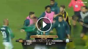 Play Pelea Peñarol Palmeiras Copa Libertadores 270417