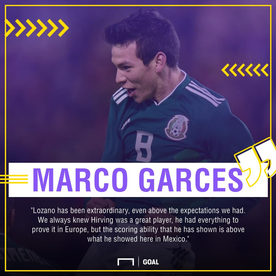 GFX Info Marco Garces quote Hirving Lozano PSV