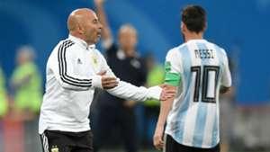 Lionel Messi Sampaoli Argentina Nigeria World Cup Russi 2018 26062018