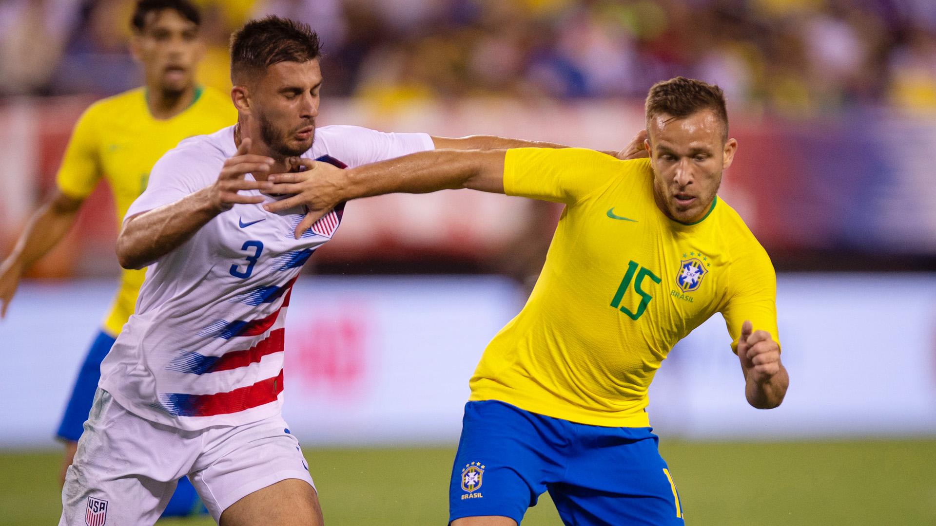 Arthur Matt Miazga USA Brazil Friendly 07092018