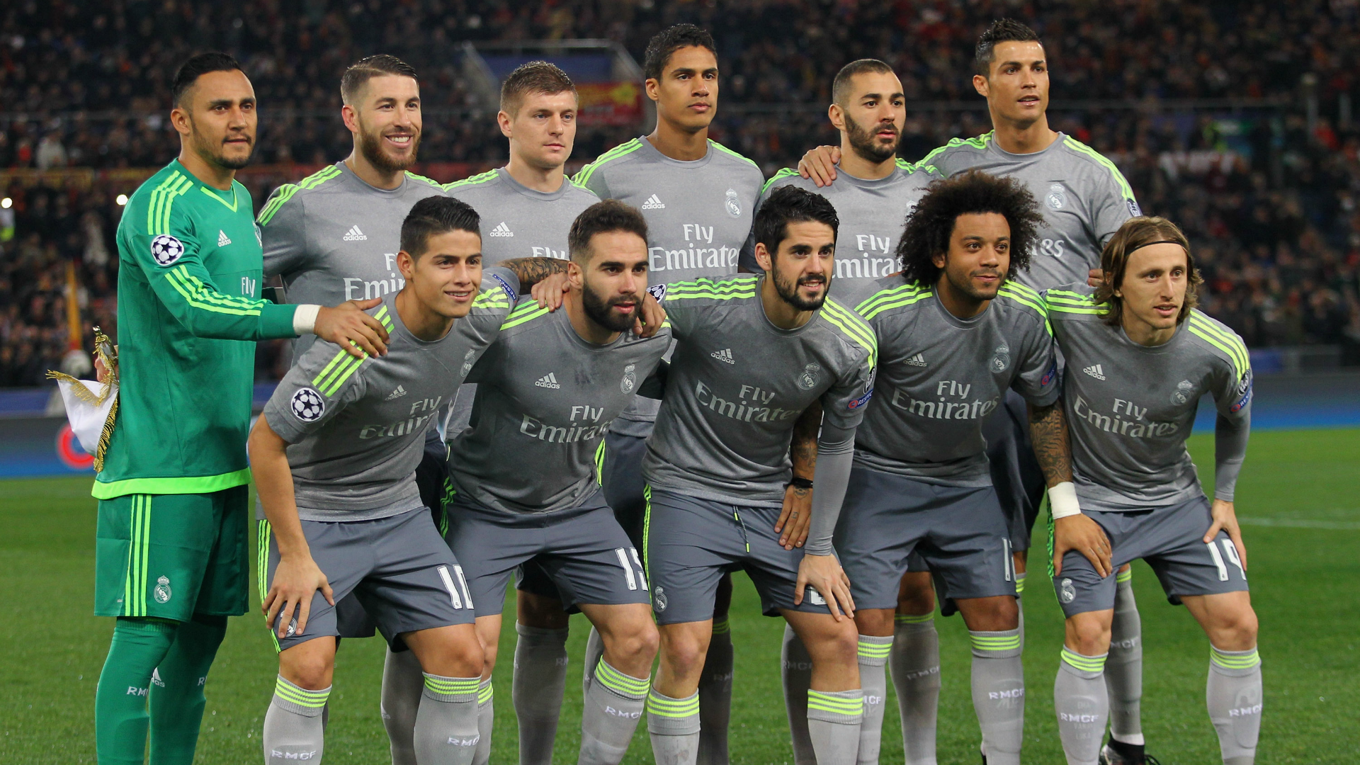 Real Madrid lineup against Roma in Champions League 2015-16