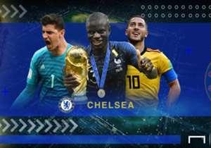 Olivier Giroud dan N'Golo Kante berhasil menjadi juara dunia bersama Prancis. Lantas bagaimana dengan performa pemain Chelsea lainnya di Piala Dunia 2018?