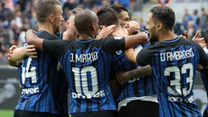 Inter celebrating vs SPAL Serie A