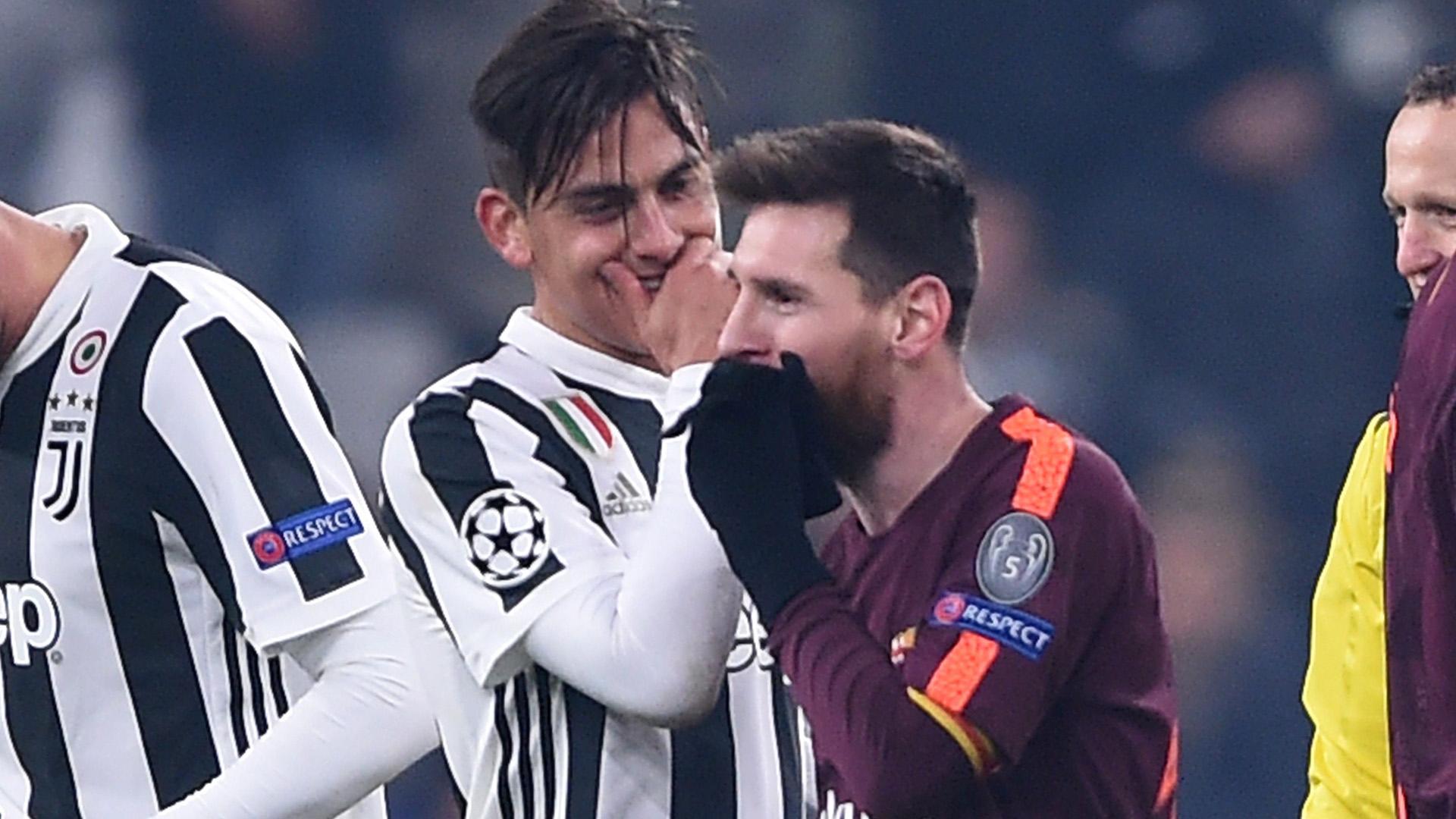 Dybala Messi Juventus Barcelona Champions League