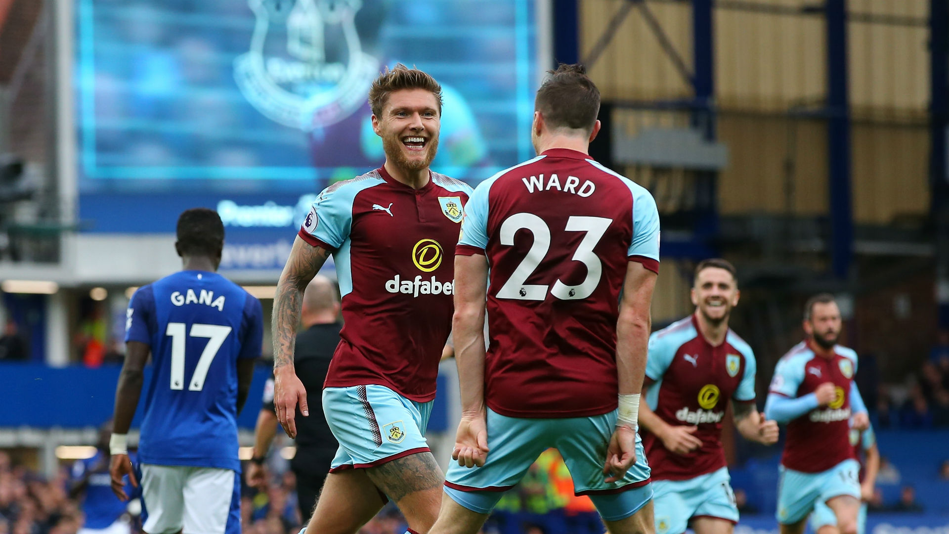 Jeff Hendrick Stephen Ward Burnley