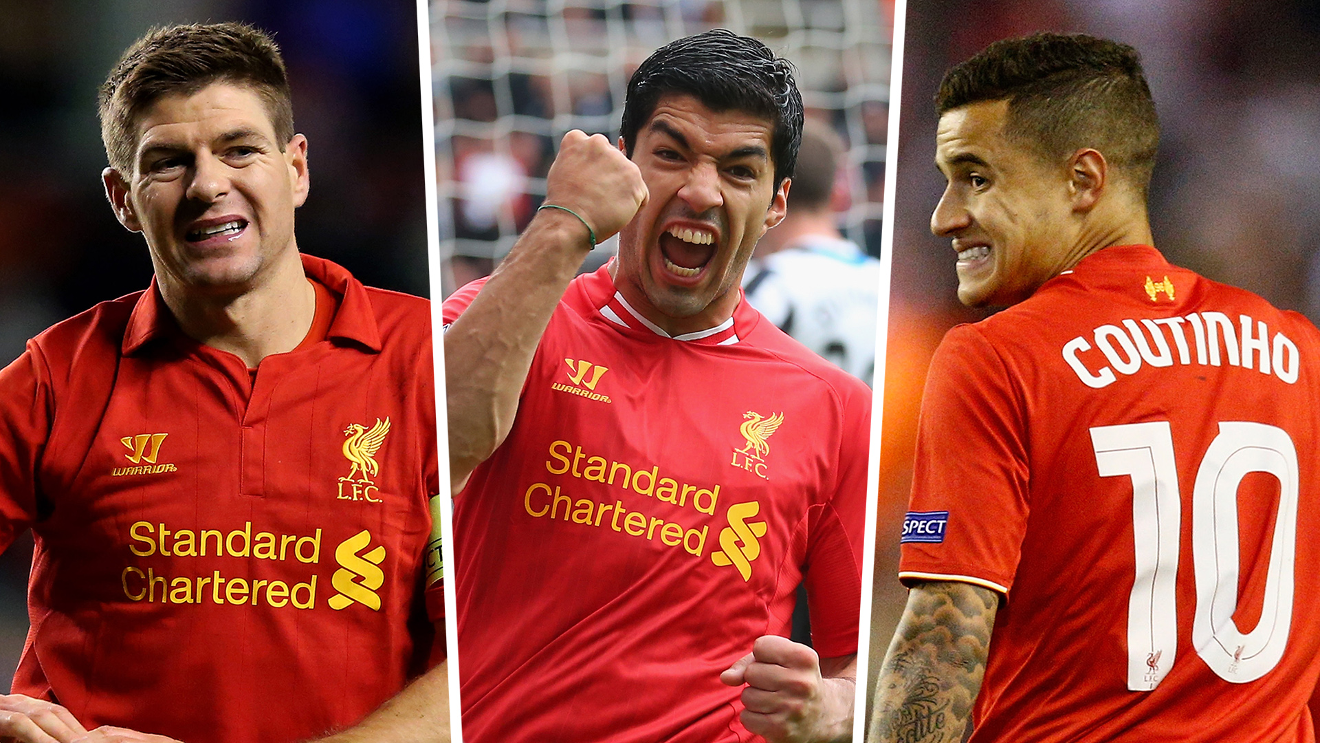 Liverpool Team of the Decade: Suarez in but Gerrard and Coutinho miss out