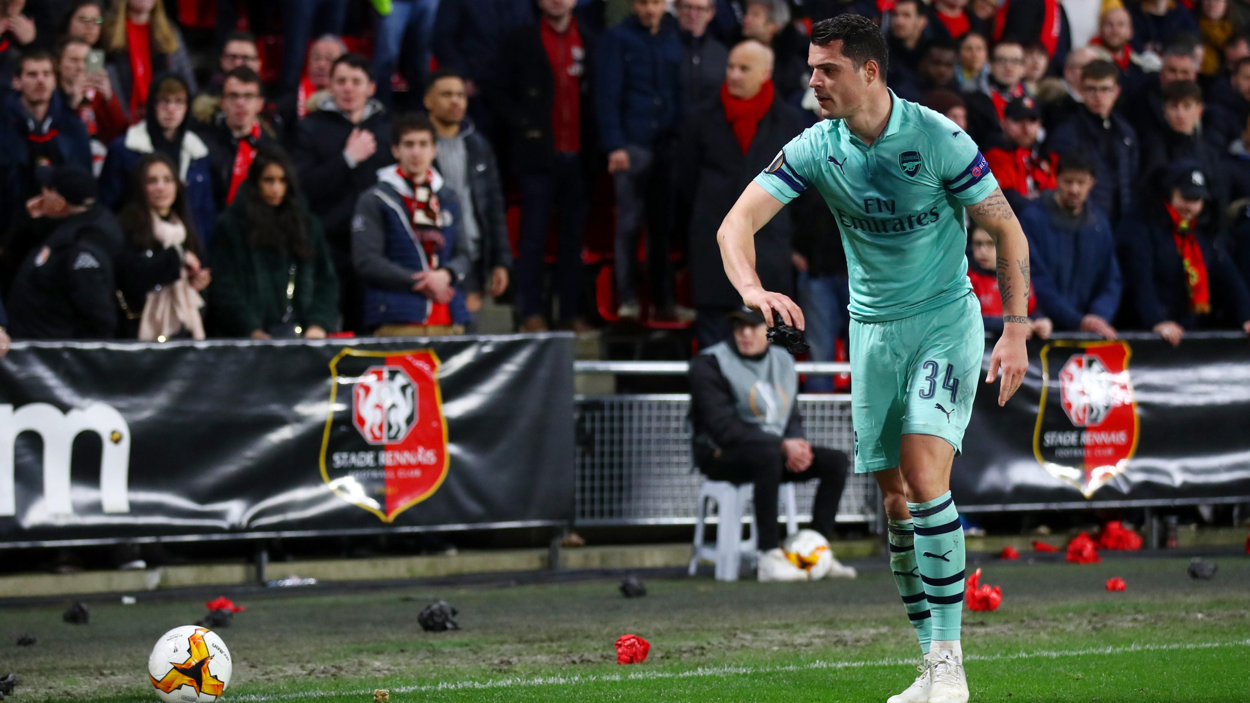 Granit Xhaka Rennes Arsenal Europa League