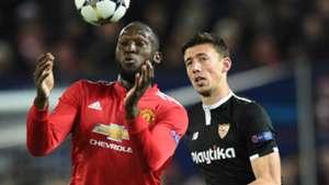 Romelu Lukaku, Clement Lenglet, Man Utd vs Sevilla, 2017-18 Champions League