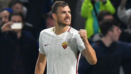 Edin Dzeko Chelsea Roma Champions League